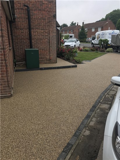Complete resin driveway